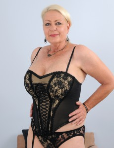 At 60 Years Old Angelique's Phat Tits Are Looking Cool