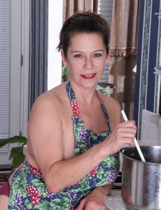 43 Year Old  Big Breasted  Cougar Christy Has Some Joy Cooking in Her Kitchen
