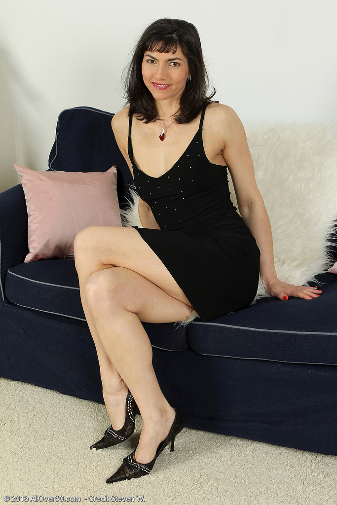 Elegant and  Older Babe Mona B from  Onlyover30 Looking Sexy in Her Dress
