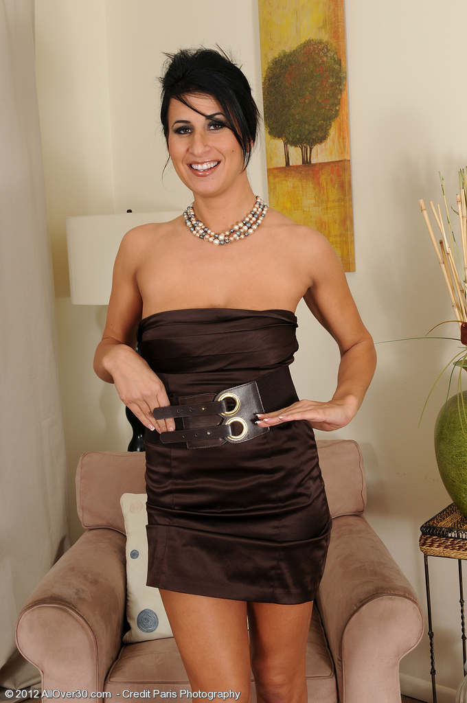 Elegant and Chic Mummy Sophia Bella from  Onlyover30 Playing with Pearls