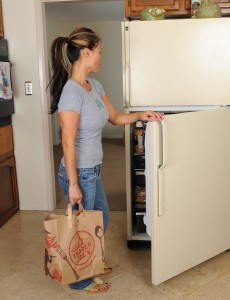 Pervy  Wife Trish Strps Stripped in Front of Her Fridge in Here