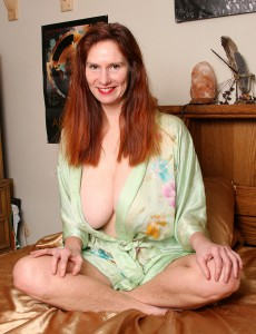 Super Horny Redheaded Breeze from  Onlyover30 Acquires Private with Her Dildo