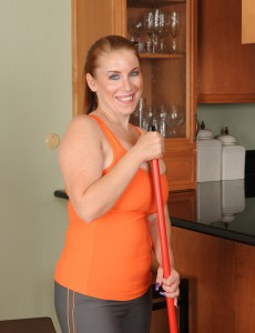 33 Year Old  Wife Desiree Deluca Takes a Crack from Her Cleaning