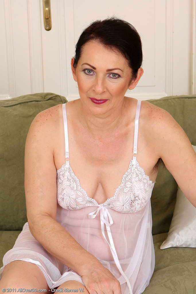 Hot Fifty Year Old Anna B from  Onlyover30 Showcasing off Her Fur Covered Pits