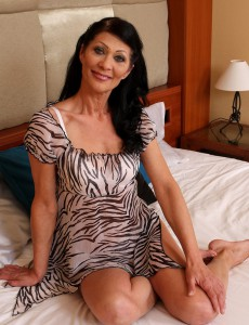 Super Horny 52 Year Old Kitty S Loving Her Stimulating Blue Dildo in Here