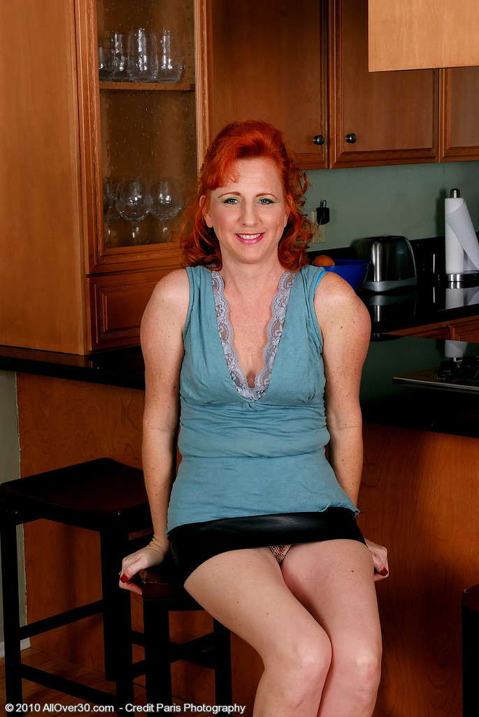 All Innate Red Headed Milf Shows off Her Sexy Soles and Fur Covered Pussy