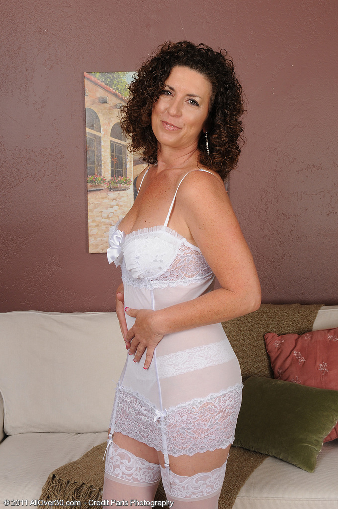 45 Year Old Dark Brown  Wife Tammy Sue in Hot White Undies