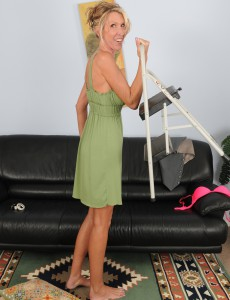 Golden-haired Brynn Hunter from  Onlyover30 Cracks from Her Domestic Services