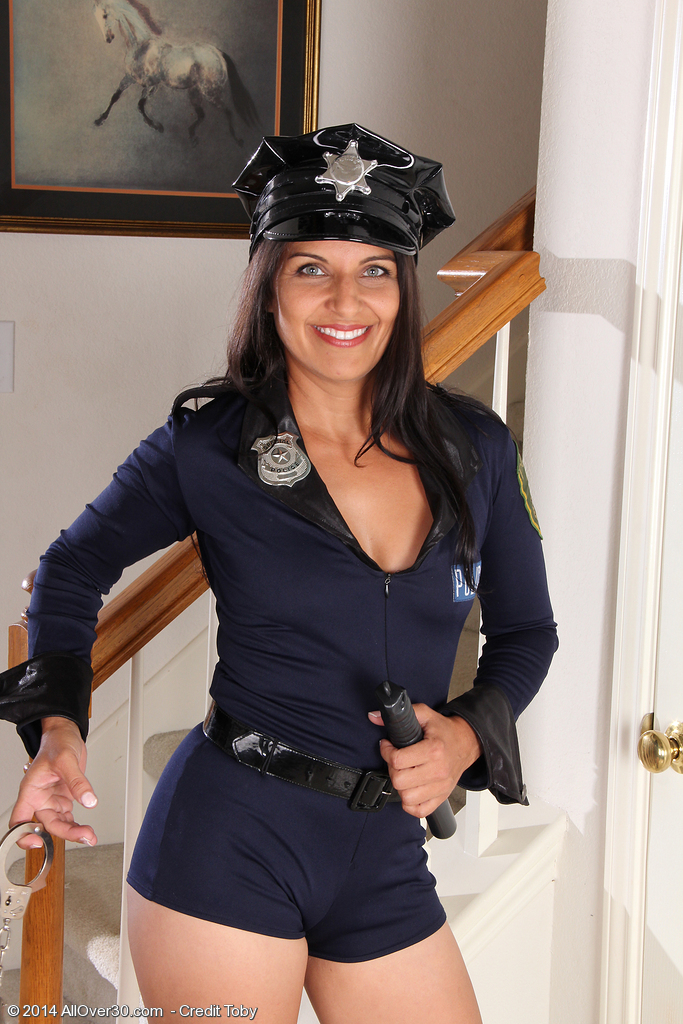 Crazy 41 Year Old Saffron Leblanc Makes a Excellent Police Woman
