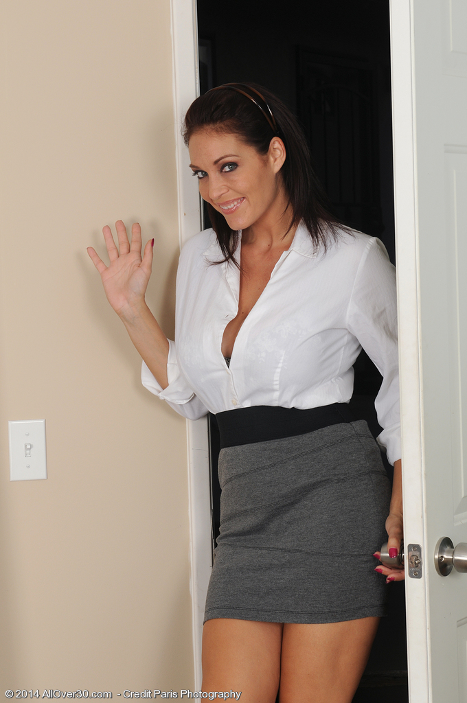 Big Breasted Executive Charlee Follow Lets Liberate Her Pleasing Boobs for You