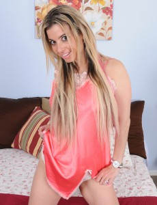Thirty Year Old Alana Luv from  Onlyover30 Unclothing off Her Hot Pink Underware