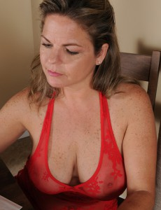 37 Year-old Marie Michaels Having Fun with Her Huge Mellow Love Muffins in Here