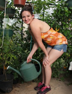 33 Year Old Victoria Johnson for  Onlyover30 Receives  Nude in the Greenhouse