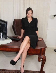 31 Year Old Cuteness from  Onlyover30  Opening Up Pink at Her Desk