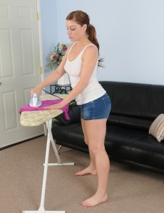 Lewd  Wife Sovereign Skye Does Some Ironing and Shows Her Spectacular Body