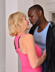 Older Babe  Blond Molly Maracas Receives a Hard Smashing by Her Workout Partner