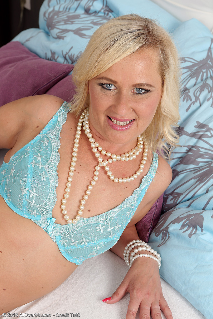 Blond  Older Evelina Jones Joys Herself