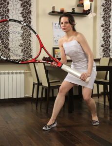 Luxurious Candice Plays with Her Enormous Tennis Racket
