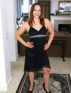 Elegant Cassandra Johnson Takes off Her Dress