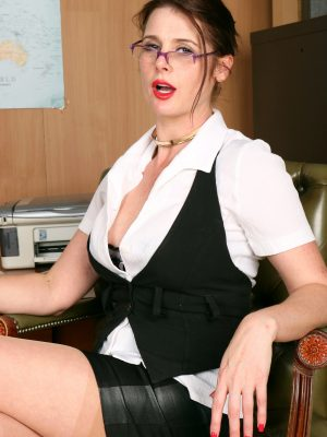 Seductive Secretary Karina Currie