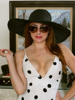 Stephanie Swan Big Hat Gorgeous Dress