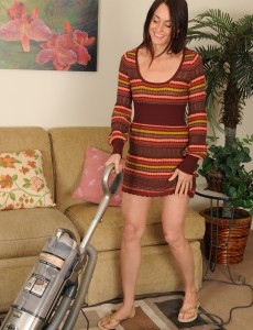 Tall and Slender Jasmine M from  Onlyover30  Takes off After Doing Housework