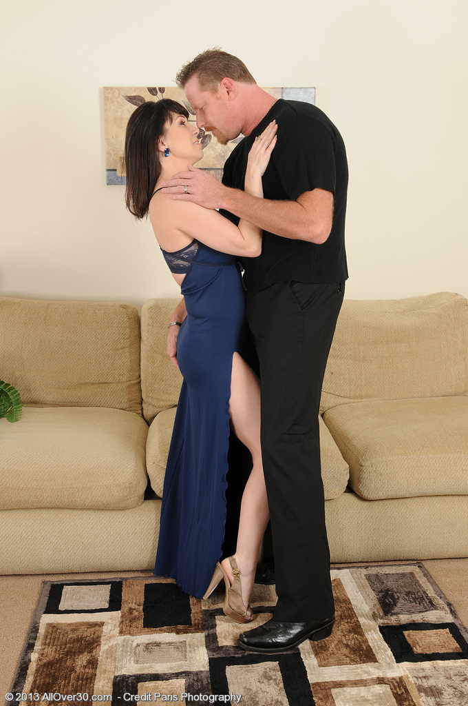 Super Nasty and  Older Rayveness Deep Throats on a Hard Cock Before Poking