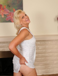 53 Year Old Sindy Silver from  Onlyover30 Removes Her Undies and  Opens