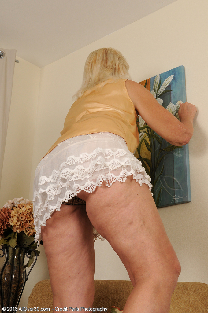 52 Year Old  Wife Sindy Silver  Opening Up Her  Older Stunner  Butt Wide