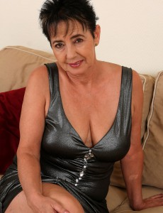 57 Year Old  Wife Yvette  Takes off off Her Cloths and Deep Throats on Her Melons