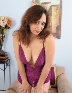 Decked out in Purple Panties Alesia Pleasure Does a Great Disrobe Tease