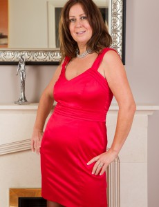 Elegant 47 Year Old Carol Foxwell Glides out of Her Sily Evening Dress