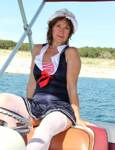 53 Year Old  Wife Lynn Liking a  Nude Boat Ride for You to See