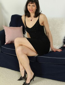 Elegant and Aged Mona B from  Onlyover30 Looking  Hot in Her Dress