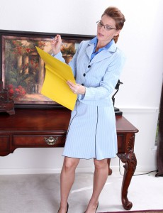 Office Milf Sky Rodgers Stops Work to Give Us a Handsome Strip Taunt