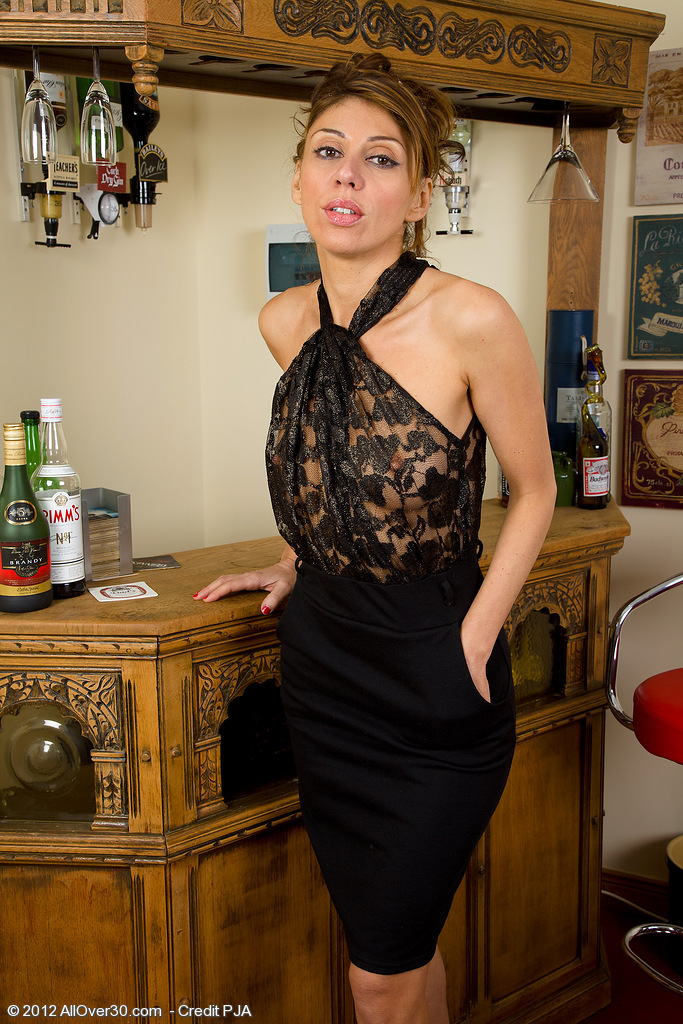 Skinny and Elegant Chloe Shows off Her 34 Year Old Bare Body Here