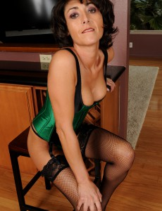 Miniature Mummy Coral from  Onlyover30 Looking Very Hot in Green Underware