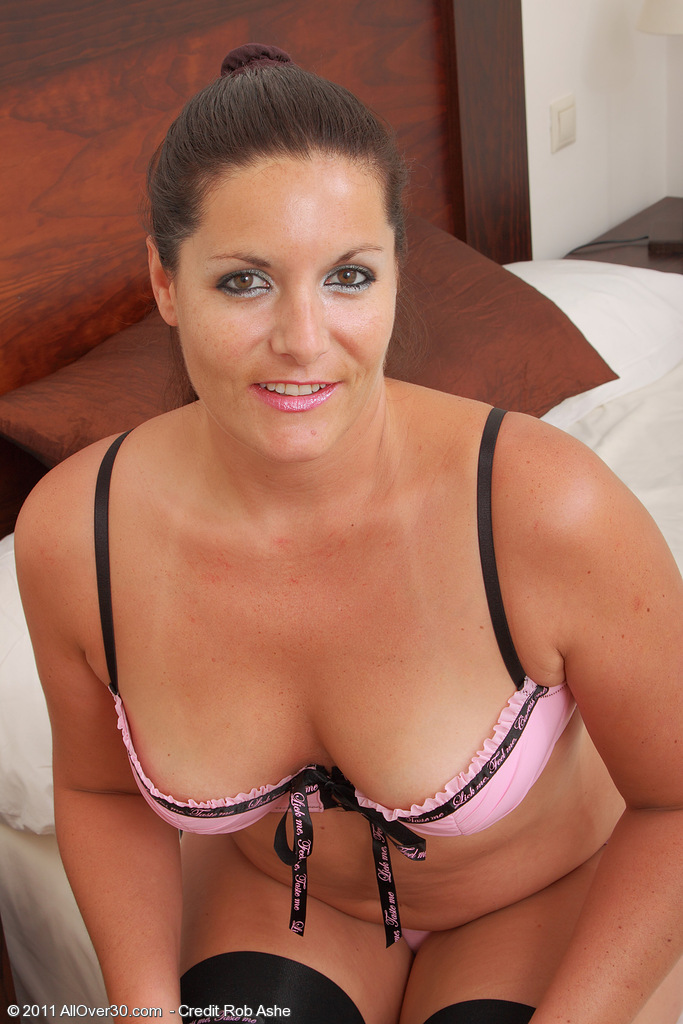 Brown Haired Mummy Lara Martinez Has Fun in and out of Her Slinky Thong