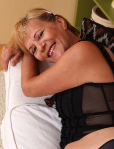 Blond and 56 Years Old Lili Unwraps off Her  Undies to Reveal Inborn Bush