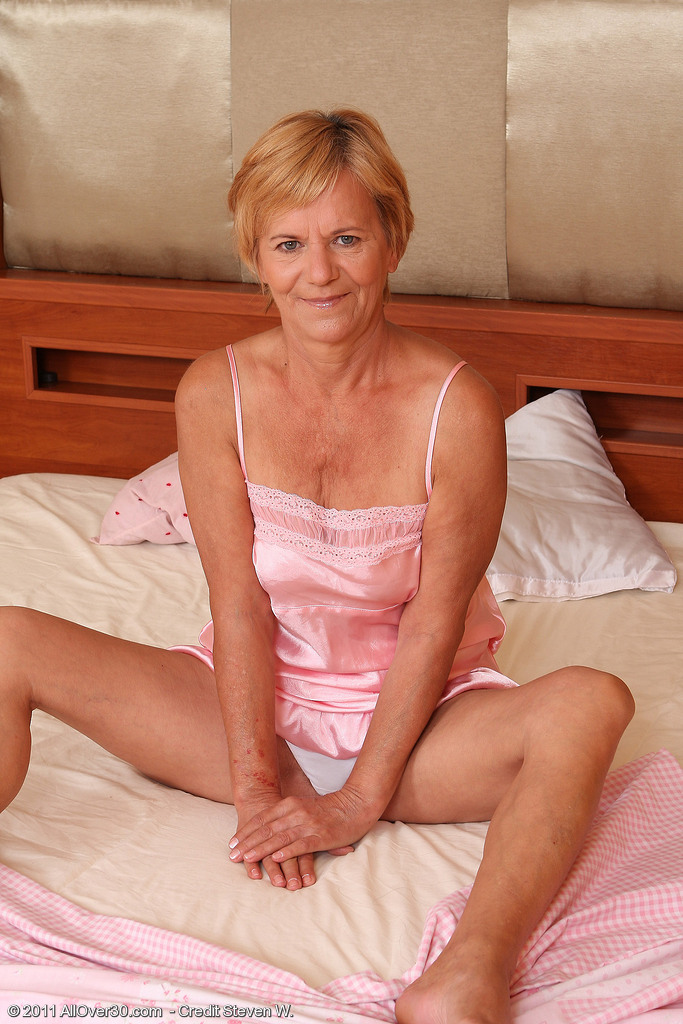 Lili Shows off Her  Bushy 56 Year Old Pussy and Ass for the Camera
