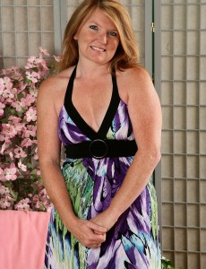 Blond Haired 42 Year Old Stacie Looking Actually Superb in Her Sheer Nylons