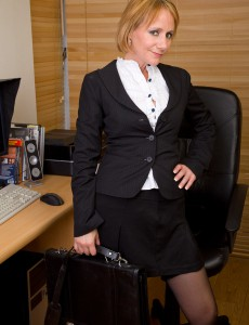 At 46 Years Old Tiffany T Still Looks Great Sitting Nude in the Office