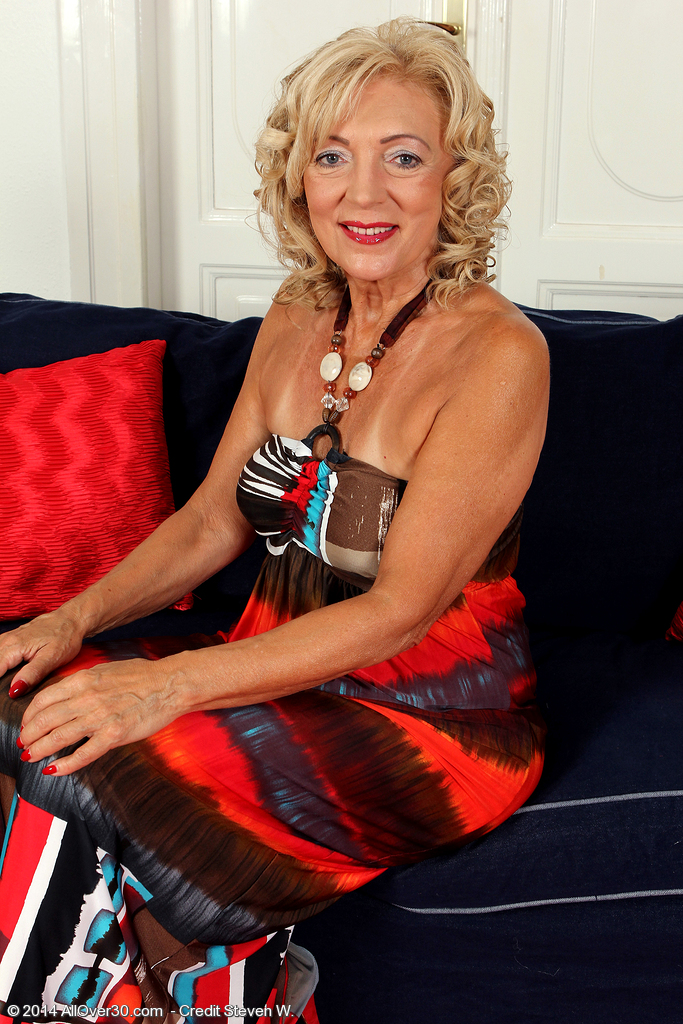 65 Year Old  Wife Kamilla Putting on a Very  Hot Strip Show Here