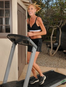 Slender 36 Year Old Stacey Y Takes a Break from Her Workout and  Takes off