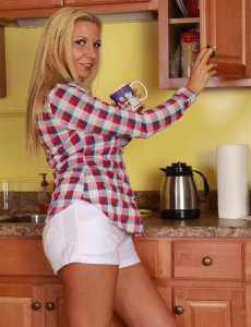 After Loving a Cup of Coffee Naughty Jessica Taylor Likes Her Cell