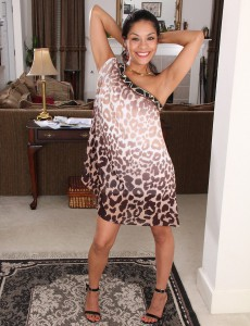 Kinky 32 Yea Old Veronica Hart Gliding off Her Streamlined Elegant Dress