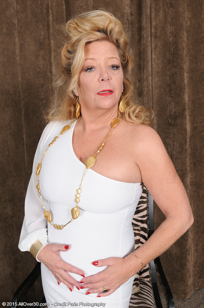 Golden Chick of Porn Karen Summer Glides out of Her White Elegant Dress