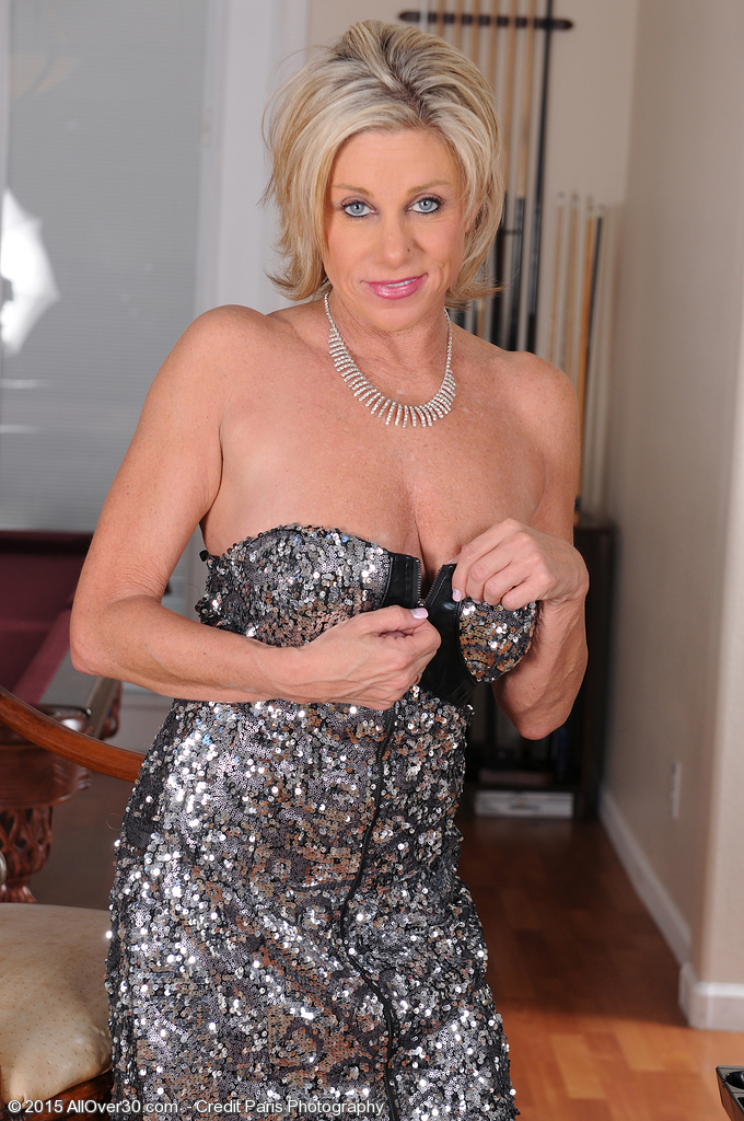 53 Year Old Payton Hall Slides out of Her Elegant Dress Just for You