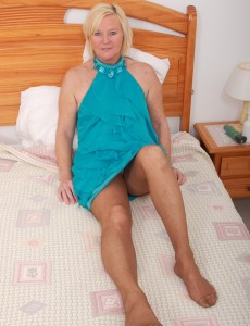 49 Year Old Sabine Ramming a Large Blue Vibrator into Her  Older Babe Box