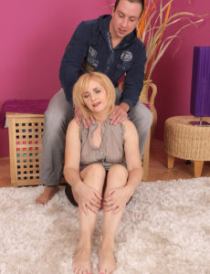 Breasty  Blond Jennyfer B Gets Every Inch of Her Body Gratified by Her Man